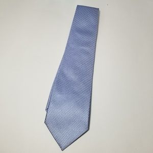 Sean John 100% imported silk blue silver tie